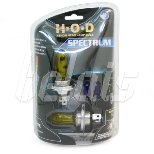 Лампы галогенные «H.O.D» SPECTRUM H7 (55W, SUPER YELLOW, лампочки T10 в комплекте)